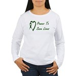 Power To Save Lives Women's Long Sleeve T-Shirt