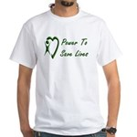 Power To Save Lives White T-Shirt