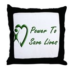 Power To Save Lives Throw Pillow