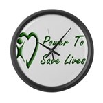 Power To Save Lives Large Wall Clock