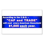 1600 Cap and Trade (Rectangle Sticker 10 pk)
