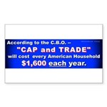 1600 Cap and Trade (Rectangle Sticker)