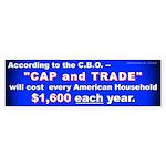 1600 Cap and Trade (Bumper Sticker 10 pk)