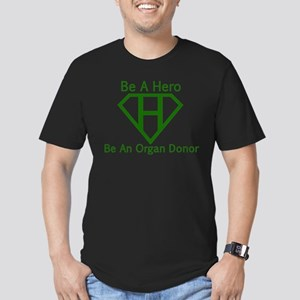 Be A Hero Men's Fitted T-Shirt (dark)