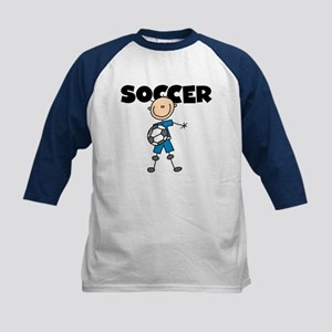 SOCCER Stick Figure Kids Baseball Jersey