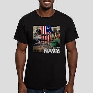 NAVY 1776 Men's Fitted T-Shirt (dark)