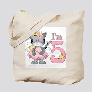 Kitty Princess 5th Birthday Tote Bag