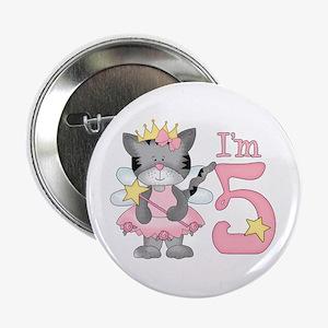 "Kitty Princess 5th Birthday 2.25"" Button"