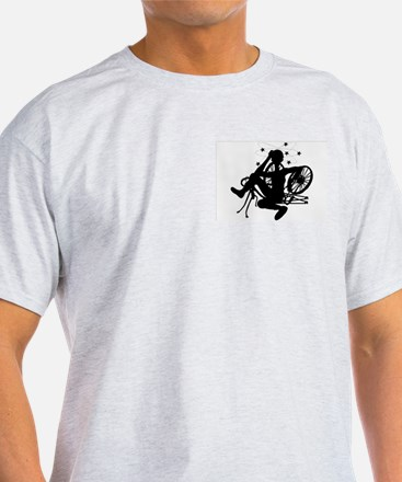 Cyclist Crash Ash Grey T-Shirt