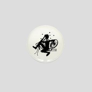 Cyclist Crash Mini Button