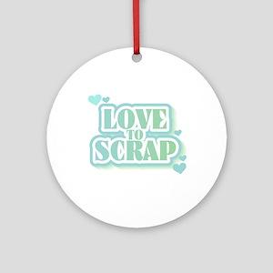 Love To Scrap Keepsake (Round)