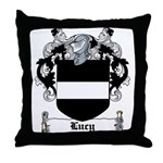 Lucy Coat of Arms Throw Pillow
