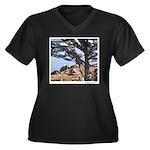 Sea Lions Women's Plus Size V-Neck Dark T-Shirt