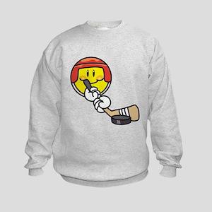 Smile Face Hockey Kids Sweatshirt