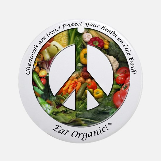 Ornament (Round) Peace Organic Vegetables