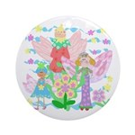 Pretty Little Angels Ornament (Round)