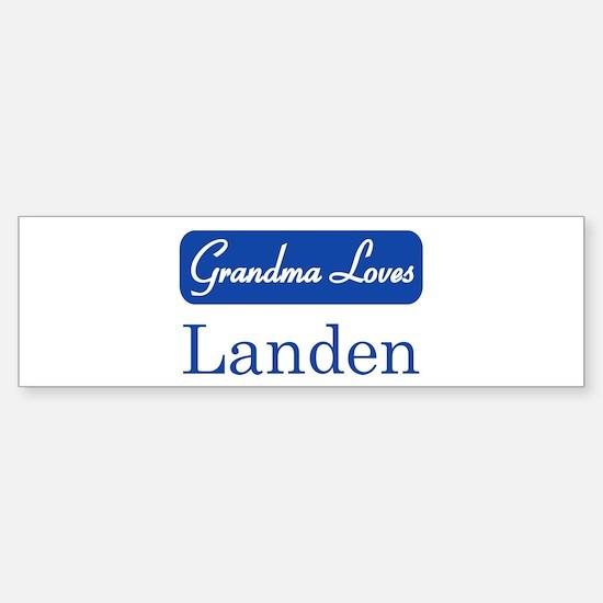 Grandma Loves Landen Bumper Bumper Bumper Sticker