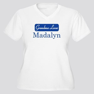 Grandma Loves Madalyn Women's Plus Size V-Neck T-S