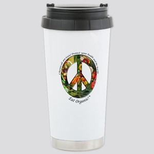 Stainless Steel Travel Mug Peace Organic Vegetable