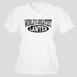 World's Greatest Lawyer Women's Plus Size V-Neck T