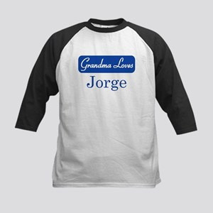 Grandma Loves Jorge Kids Baseball Jersey