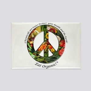 Rectangle Magnet Peace Organic Vegetables