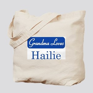 Grandma Loves Hailie Tote Bag