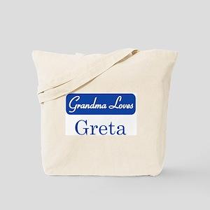 Grandma Loves Greta Tote Bag