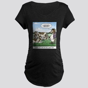 Tofu Cow Maternity Dark T-Shirt