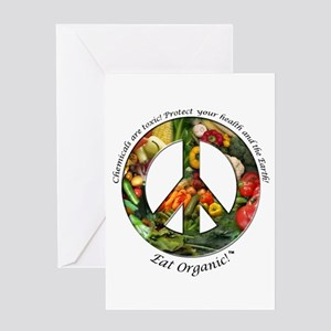 Greeting Card Peace Organic Vegetables