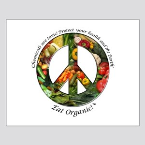 Small Poster Peace Organic Vegetables