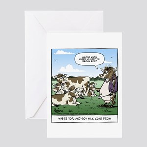 Tofu Cow Greeting Card