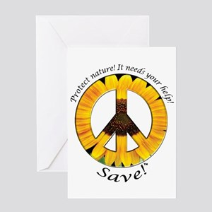 Greeting Card Peace Sunflower