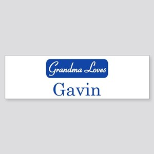 Grandma Loves Gavin Bumper Sticker