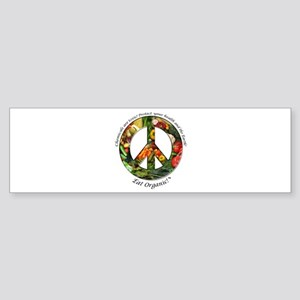 Sticker Peace Organic Vegetables (Bumper)