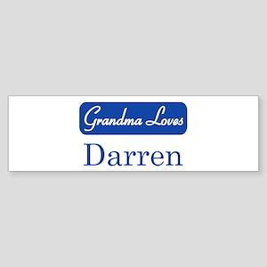 Grandma Loves Darren Bumper Sticker