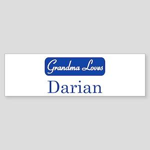 Grandma Loves Darian Bumper Sticker