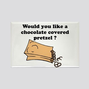 Chocolate covered pretzel Rectangle Magnet