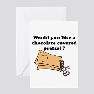 Chocolate covered pretzel Greeting Card