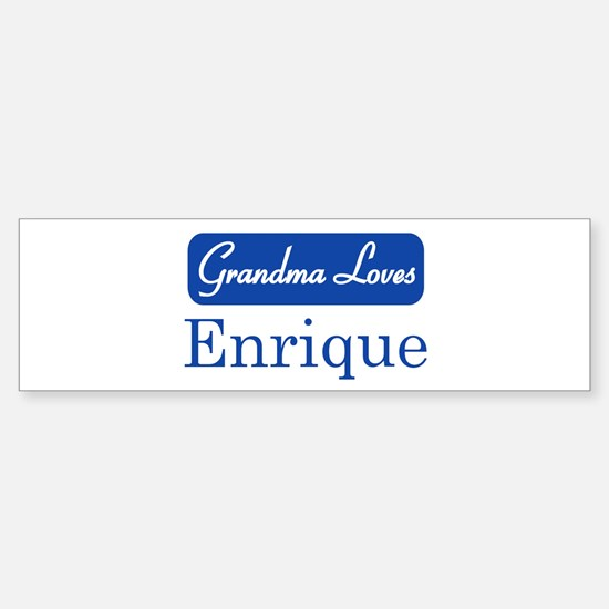 Grandma Loves Enrique Bumper Bumper Stickers