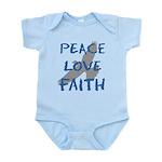 Peace Love Faith Infant Bodysuit