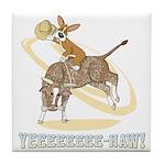 Bull Rider Corgi Tile Coaster