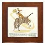 Bull Rider Corgi Framed Tile