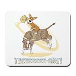 Bull Rider Corgi Mousepad