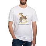 Bull Rider Corgi Fitted T-Shirt