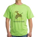 Bull Rider Corgi Green T-Shirt