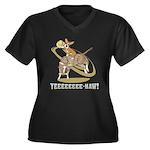 Bull Rider Corgi Women's Plus Size V-Neck Dark T-S