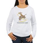 Bull Rider Corgi Women's Long Sleeve T-Shirt