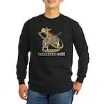 Bull Rider Corgi Long Sleeve Dark T-Shirt