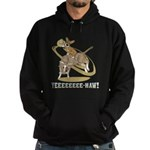 Bull Rider Corgi Hoodie (dark)